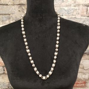 Fun caged faux pearl necklace